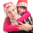 In cap for Xmas — Stock Photo