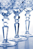 Crystal goblets — Stock Photo