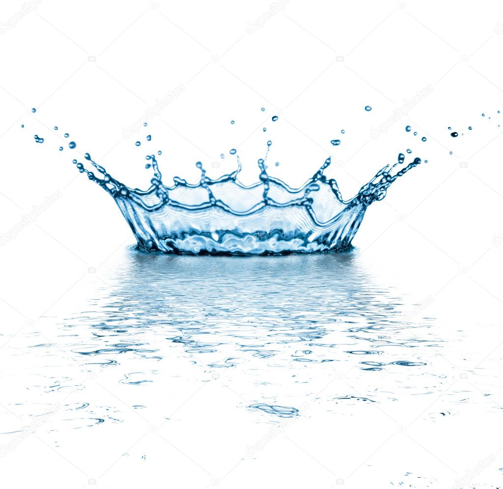 Water splash on white background.  Stock Photo #2995783