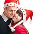 Two lucky in Cristmas - Foto Stock