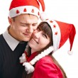 Two lucky in Cristmas — Stock Photo