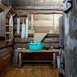 Russian rustic bath-house - Stock Photo
