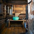 Rustic bath-house — Stock Photo