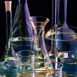 Foto de Stock  : Chemical flasks