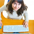 Girl - a secretary — Stock Photo