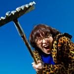 Woman with rake — Stock Photo #3144575