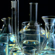 Collection of the chemical flasks — Stock Photo #3144635