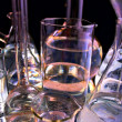 Collection of the laboratory glassware - Stock Photo
