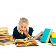 Girlie with book — Stock Photo