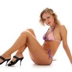 Graceful woman in bikini — Stock Photo