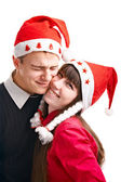 Dois sorte no cristmas — Foto Stock
