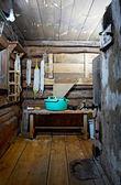 Russian rustic bath-house — Stock Photo