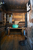 Rustic bath-house — Stock Photo