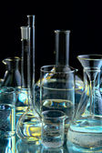 Collection of the chemical flasks — Stock Photo