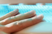 Manicure on female hands — Stock Photo