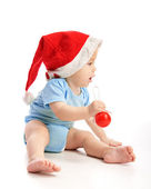 Toddler with Santa's hat — Stock Photo