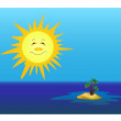 Stock Photo: Sun and island