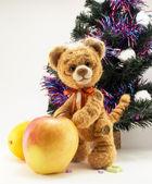 Kaplan elma kürk ağacının altında — Stok fotoğraf