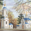Evgenie Muchenika church — Stock Photo