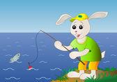ウサギの魚 — ストックベクタ