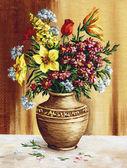 Bouquet of garden flowers — Stock Photo