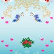 Royalty-Free Stock Photo: Card. Patterns, flowers, hearts, angels