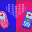 Mobile phones enamoured — Stock Photo #3377678