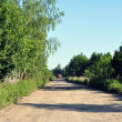 Russian rural road — Stock Photo
