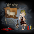 Stone Age Art Shop - Stock Photo