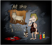 Stone Age Art Shop — Stock Photo