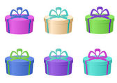 Boxes multi-coloured, round — Stock Photo