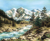The Altay landscape — Stock Photo