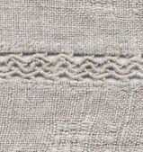 The Ukrainian homespun linen cloth — Stock Photo