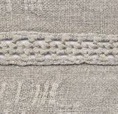 The homespun linen cloth — Stock Photo