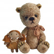 Teddy bear with girlfriend — Stock Photo