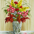 Stock Photo: Flowers in crystal vase