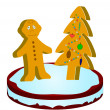 Gingerbread little man — Stock Photo