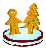 Gingerbread little man — Stock Photo