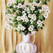 Blossoming apple-tree in a white jug — Stock Photo