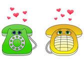 デスクトップ電話の魅了 — ストックベクタ