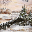 Winter Siberian landscape — Stock Photo