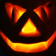 Jack O Lantern on the black — Stock Photo