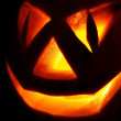 Stock Photo: Jack O Lantern on black
