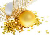 Twee kerstballen — Stockfoto