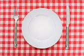 Empty dinner plate — Stock Photo