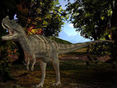 Ceratosaurus nasicornis-3D Dinosaur — Stock Photo