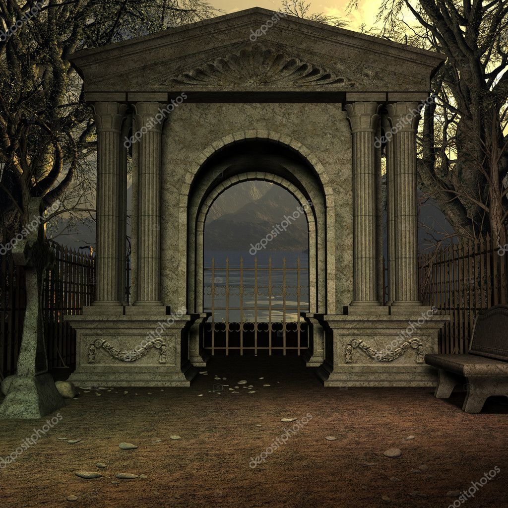 3D Render of an Mystic Cemetery — Stock Photo #2741263
