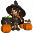 Little Witch — Stock Photo #2753617