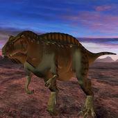 Acrocanthosaurus-3D Dinosaur — Stock Photo