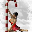 Sexy North Pole Dance — Stock Photo
